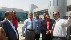 بنك الإستثمار القومى فى زيارة أرض جامعة بنها بالعبور