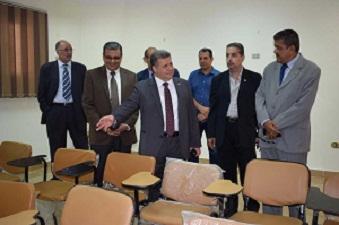 القاضي يطمئن علي استعدادات الجامعة لإستضافة مؤتمر مصر الصين