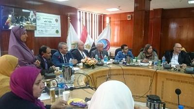 Le premier cours de formation de l'Unité de la planification stratégique à la faculté de médecine Université de Benha.