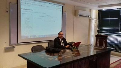 مركز التعلم الإلكتروني ينفذ ورشة عمل بكلية الفنون التطبيقية والحاسبات والمعلومات عن نظام كلاود مودل