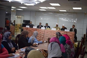 A workshop in Benha University to train on the information sources in the Knowledge bank