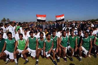 في ختام مهرجان الأنشطة الطلابية للتربية الرياضية: رئيس جامعة بنها يدعو الشباب أن يكون في مقدمة الصفوف