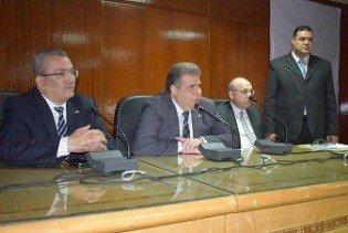 Benha university president witnesses a workshop of medical computerization