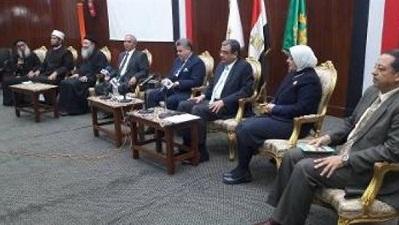 مندوب فضيلة الإمام الأكبر في جامعة بنها: الإرهاب لم يفرق بين الأشقاء في الكنائس والساجدين في المساجد