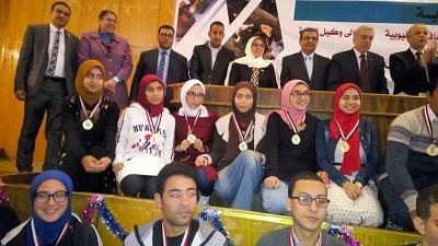 في ختام معرض العلوم والهندسة بجامعة بنها: 67 مشروعاً تنافست علي ثلاث جوائز