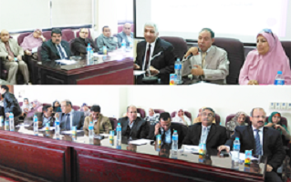 A workshop at the faculty of education to revise the strategic plan of the University
