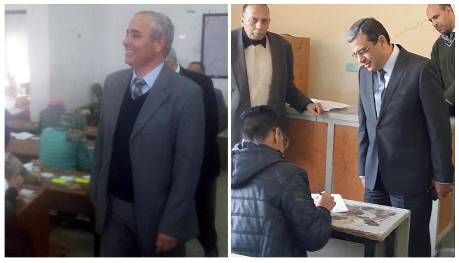نائبا رئيس جامعه بنها يتفقدا الامتحانات في 5 كليات