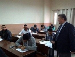El-Kady inspects the exams in three faculties in Benha University
