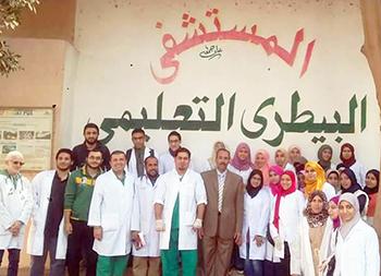 كلية الطب البيطرى ببنها تنظم يوما تدريبيا لطلاب الكلية بالمستشفى التعليمى