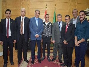 تكريم طلاب بنها الفائزين فى محاكاة الحكومة المصرية
