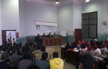 ندوتان و6 عمداء فى جامعة بنها للمشاركة السياسية
