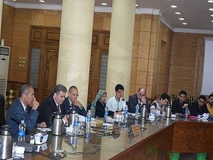 "We seek to improve the quality of the administrative process and achieving the best for those who deal with us"" says EL-Kady in its meeting with the department 's heads in Benha University"