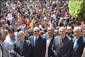 Benha University organizes a march to urge the citizens to participate in the presidential elections