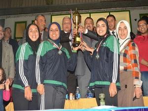 إنتهاء فعاليات مهرجان  جامعة بنها الرياضي الأول