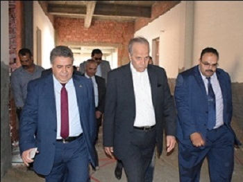 EL-kady and Ashmawy inspect the new faculties of Benha University in kafr- Saad