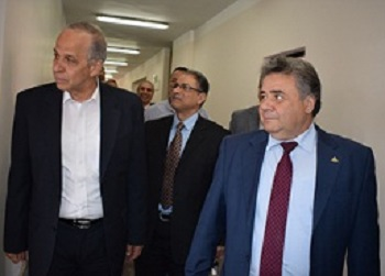 EL-Kady and Ashmawy visit the University hospital in Benha