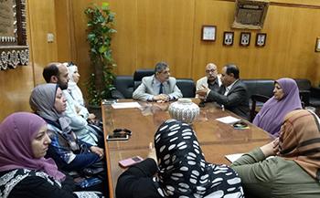 نائب رئيس جامعة بنها يستعرض الخطه الاستراتيجيه والجوده