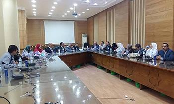 تقرير لجنة متابعة الخطة الاسترايجية امام مجلس جامعة بنها