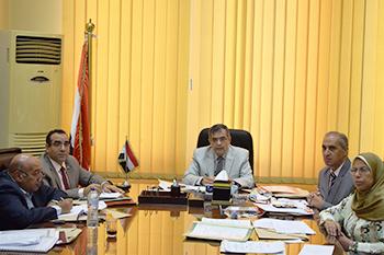 لجنة قيادات جامعة بنها استقبلت المتقدمين لوظائف مدير عام كليتي العلوم والطب البيطري