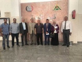 The supervision committee of the faculties' performance visits the faculty of commerce in Benha University