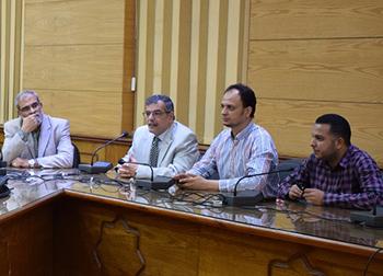 المغربي: إشراك الطلاب فى تنفيذ الرؤية المستقبلية التكاملية لمشروعات تكنولوجيا المعلومات بجامعة بنها