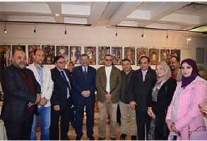 The inauguration of art exhibition in a contemporary vision of the students of the faculty of specific education