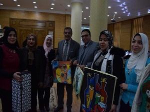 مجلس جامعة بنها يشيد بالأعمال الفنية لطلاب التربية النوعية والفنون التطبيقية