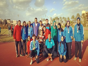 Benha university wins 12 medals at the special needs contest in Alexandria