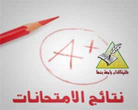 نتيجة كلية الأداب الفرقة الثانية الفصل الدراسي اﻻول 2018/2019