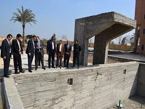 Benha university president stresses to quickly make use of the new buildings to serve the students