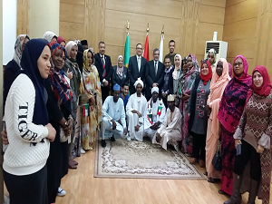 Benha University president hosts the delegations of the participating Universities in the nursing conference