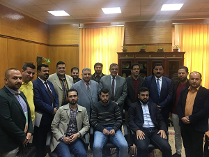 نائب رئيس جامعة بنها يلتقى وفداً من الطلاب العراقيين