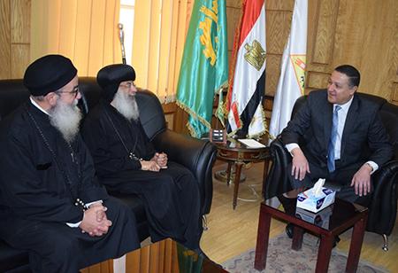 رئيس جامعة بنها  يستقبل وفد من الكنيسة القبطية الأرثوذكسية