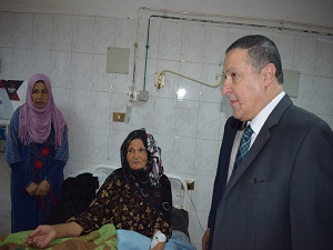 The President of Benha University continues his tours in the university's hospital and confirms the provision of real community service