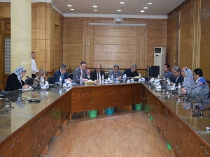Al-Saied and El-Maghraby witness the meeting of the Higher Committee for the Development of Education at the University of Banha.