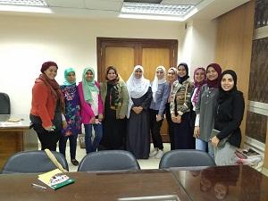 لقاءاً تعريفياً للطلاب بأهداف ورؤية ورسالة وحدة مناهضة العنف ضد المرأة بجامعة بنها