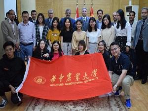 رئيس جامعة بنها يستقبل وفد طلابي من جامعتي وهان ووسط الصين الزراعية