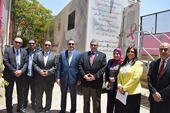 لافتتاحه قريبا: «السعيد» يتفقد إنشاء أول مركز متكامل لعلاج سرطان الثدي بجامعة بنها
