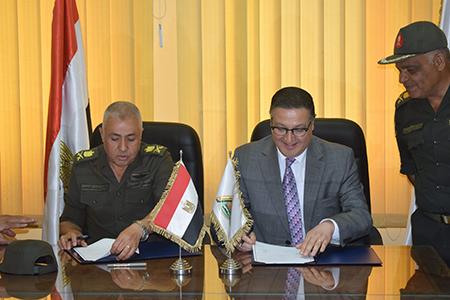 بروتوكول تعاون بين جامعة بنها والوطنية للمقاولات لتنفيذ بعض المشروعات
