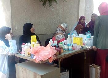 جامعة بنها تنظم قافلة بيطرية لقرية الشموت