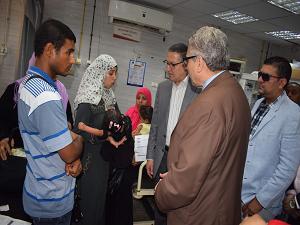 فى ثانى أيام العيد .. «السعيد» يتفقد مستشفيات جامعة بنها للإطمئنان على الخدمة الصحية المقدمة للمرضى
