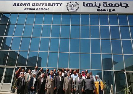استعدادا لبدء الدراسة: رئيس جامعة بنها يتفقد تطورات العمل في فرع الجامعة بالعبور