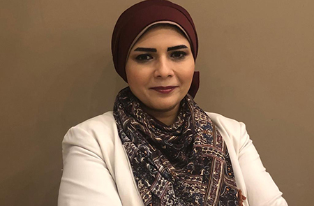 هايدى يوسف أبوالغيط مشرفا على مركز الطبع والنشر بجامعة بنها