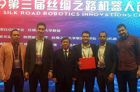 جامعة بنها تحصل على جائزة التميز في مسابقة الروبوت العالمية بالصين