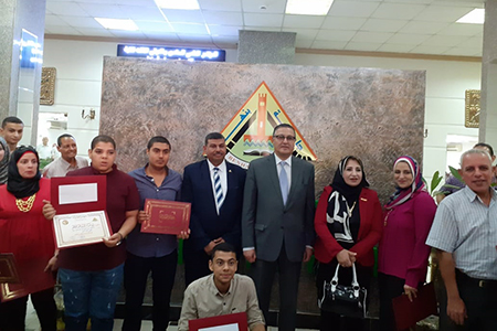 The University President honors Masters and PhD Holders of the University Employees