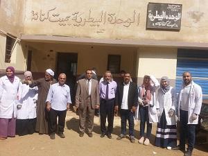 جامعة بنها تنظم قافلة بيطرية مجانية لقرية ميت كنانة