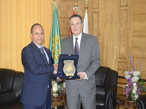 Benha University President receives Dr Nasser El Shemy