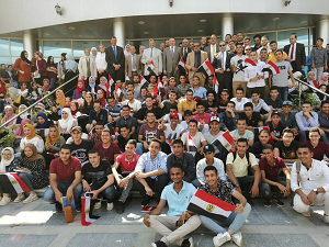 El Saeed and El Maghraby receive New Students at El Obour Branch