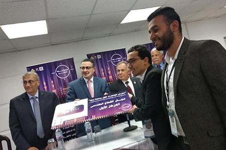 السعيد: يسلم جوائز الفائزين في معرض الابتكار الاول بجامعة بنها