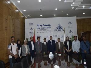 السعيد يستقبل مساعد الملحق الثقافي الليبي وعدد من الطلاب اللبيين بالجامعة